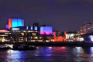 The National Theatre at night - photo by Philip Vile